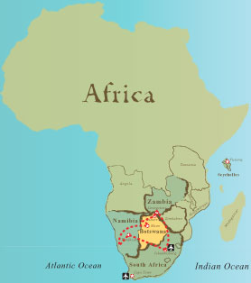 Map Of Africa Victoria Falls Africa Map